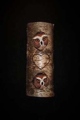 Custom Made Hand Sculpted And Carved Owl In Red Cedar Round