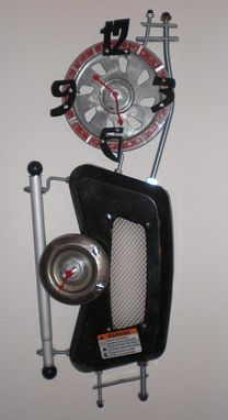 Custom Made Lawn Mower Parts Clock