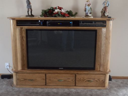 Custom Made Flat Screen Console Tv