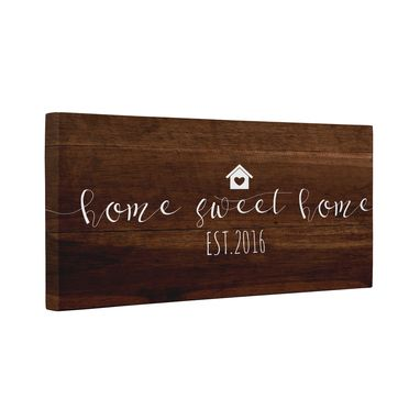 Custom Made Home Sweet Home Est Year Canvas Wall Art