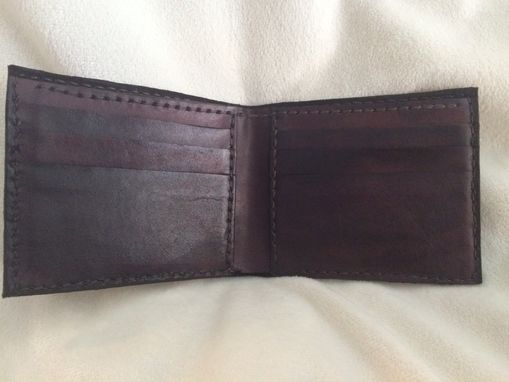 Custom Made Mens Leather Dress Wallet With Outside Coin/Card Pocket