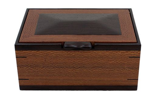 Custom Made Men'S Valet & Watch Box | Solid Lace Wood & Wenge