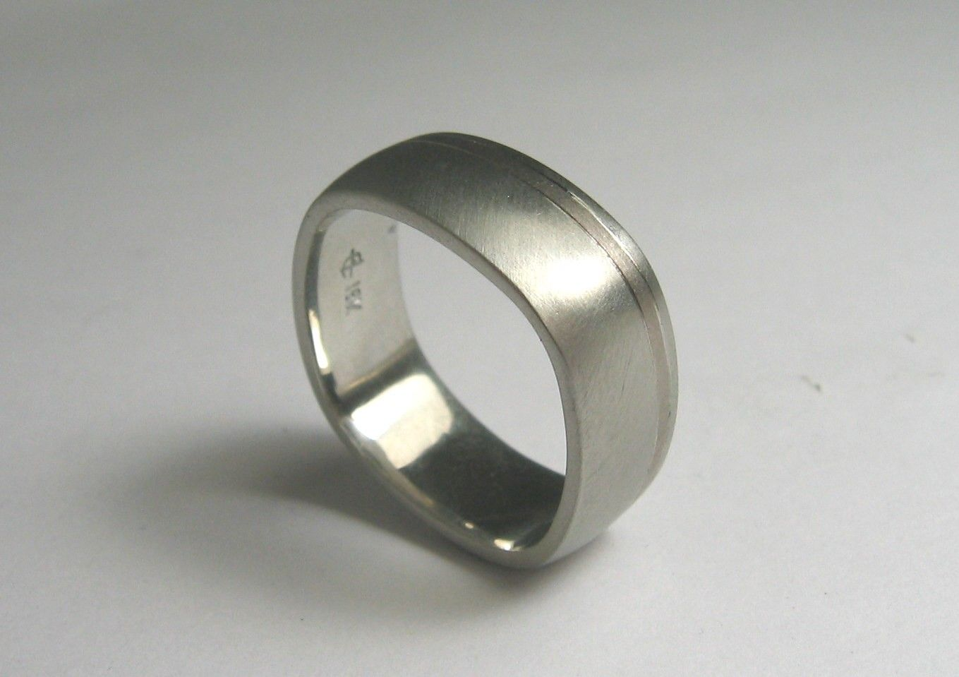Custom Made Square Shaped Wedding Band For Men