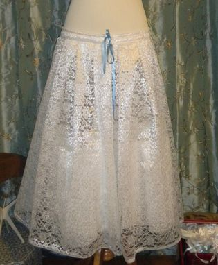 Custom Made Custom Made To Fit Bridal Petticoat With Lace And Tulle - As Many Layers As You Want
