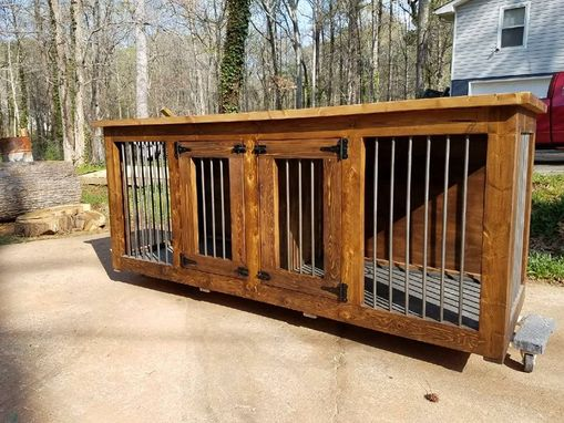 Custom Made M-Xl Double Den Dog Kennel (#1 Easy To Clean)