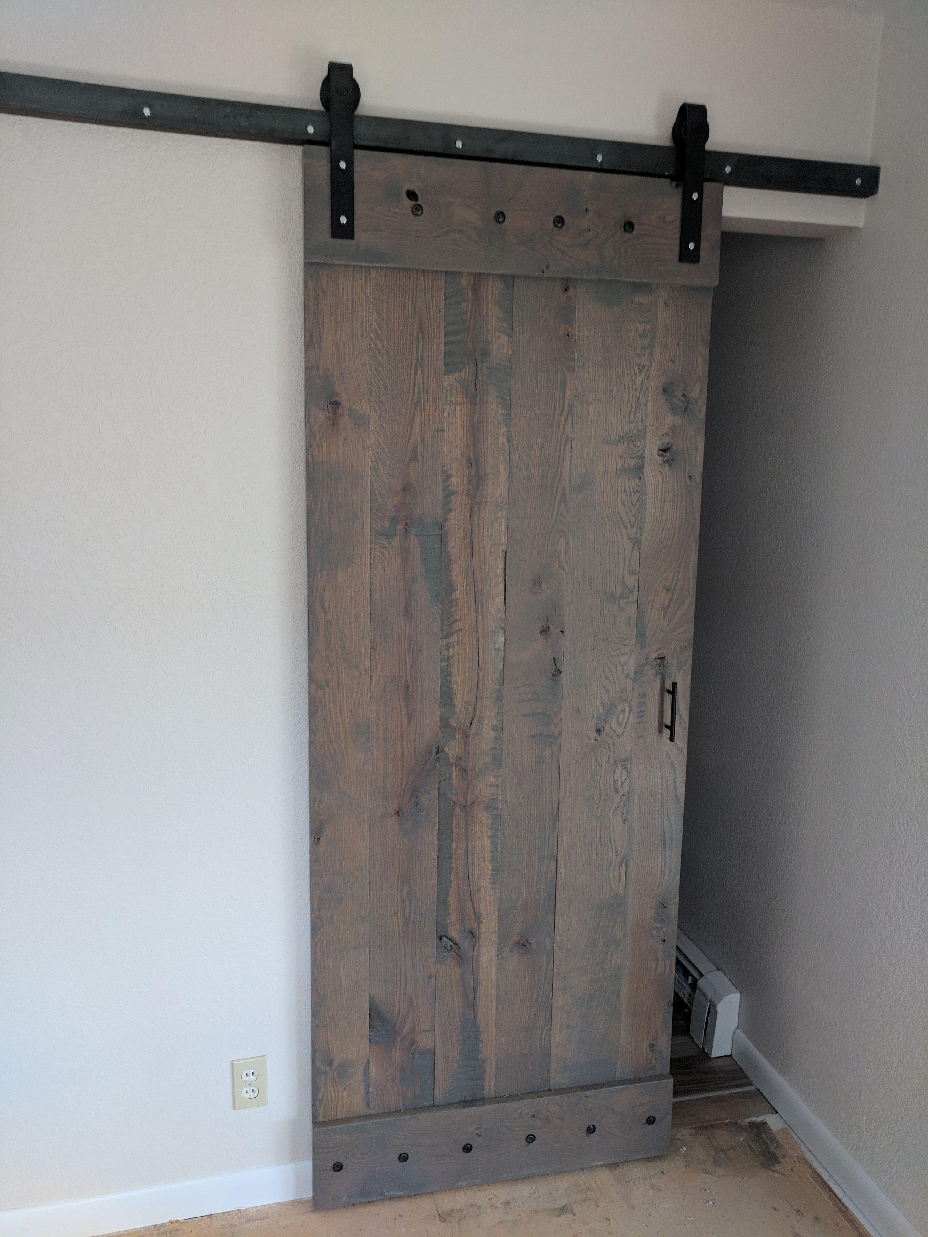 Hand Made Rustc Oak Sliding Barn Door By Live Roots Custom