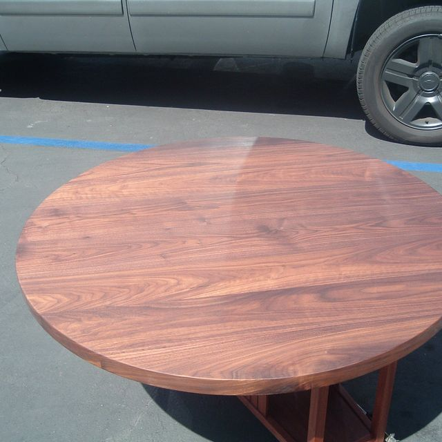 Hand Crafted Rich\'s 2 Inch Thick Solid Walnut Tabletop 42 Inch ...