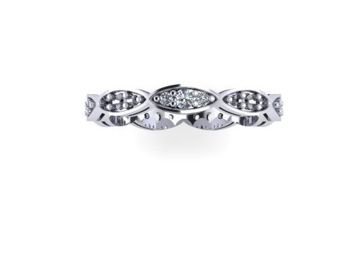 Custom Made Platinum And Diamond Wedding Ring