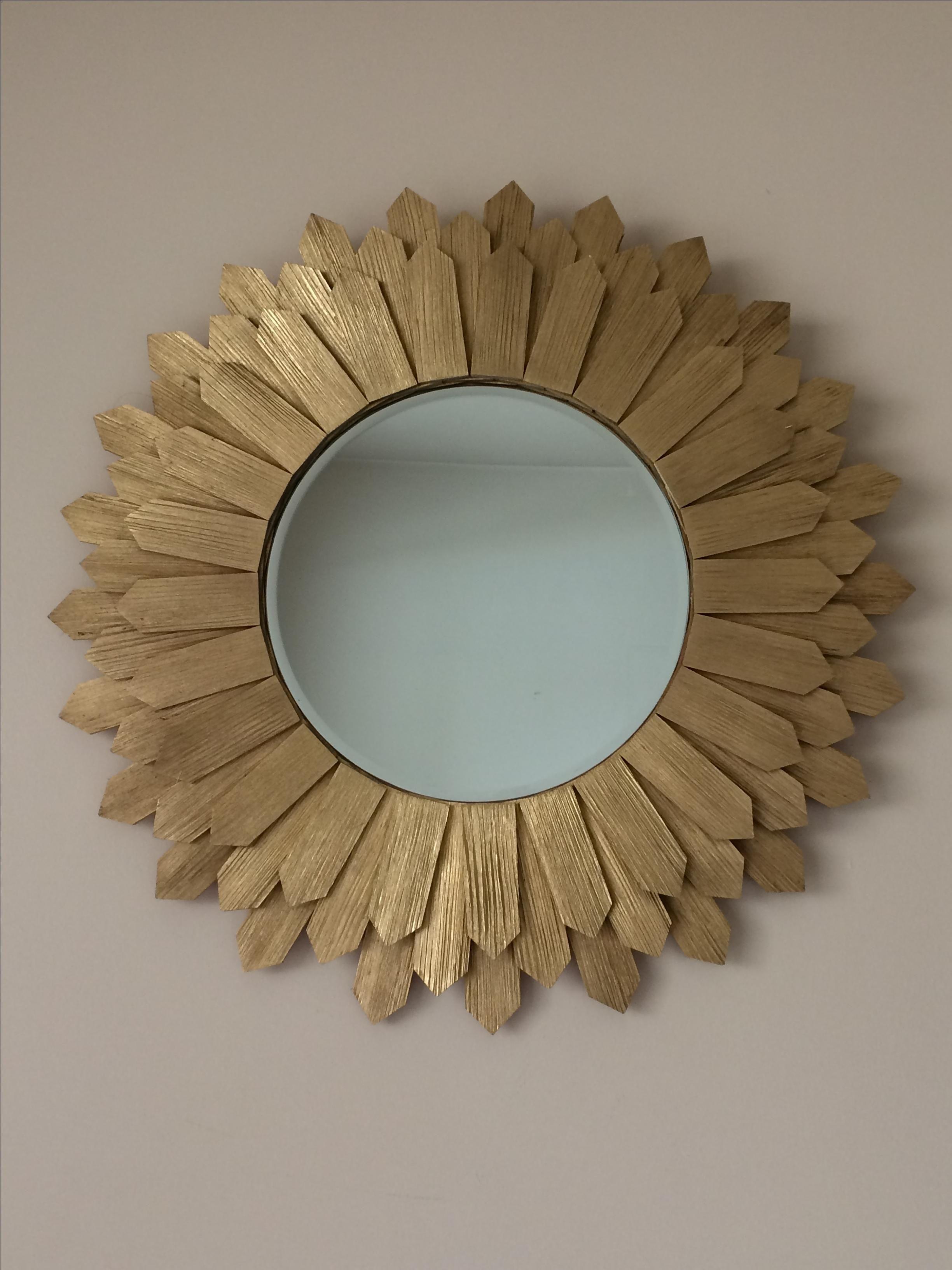 Buy A Hand Made Sunburst Wall Mirror Mid Century Modern 24