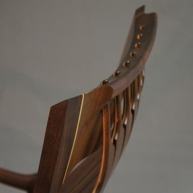 Custom Made Jos. Lamerton Rocking Chair (Walnut With Maple Accents Ebony Pins)