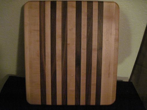 Custom Made Maple & Black Walnut Face Grain Cutting Board