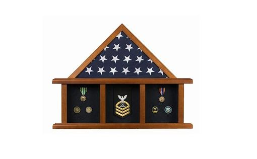 Custom Made The Colonial Flag Display Case