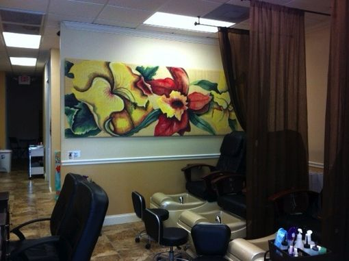 Custom Made Custom Painting On Stretched Raffia (Various Sizes Available)