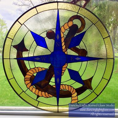 Custom Made Compass And Anchor Panel