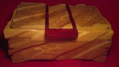 Custom Made Hand Carved Cherry Jewelry Box