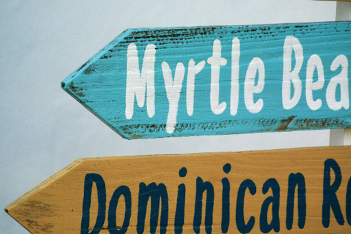 Custom Made Directional Mileage Garden Decoration Sign, Rustic Wood Destination Sign