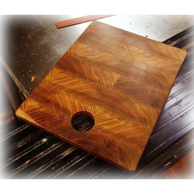 Custom Made End-Grain Bread And Cheese Sized Boards.
