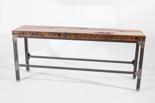 Custom Made Rustic Industrial Bench/ Console Table