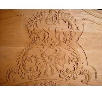 Custom Made Carved Footboard To King Size Bed