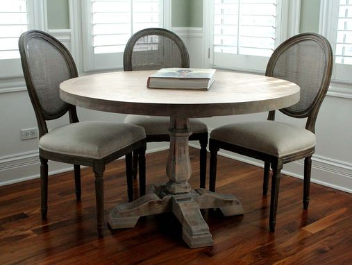 Custom Made Round Pedestal Leg Dining Table