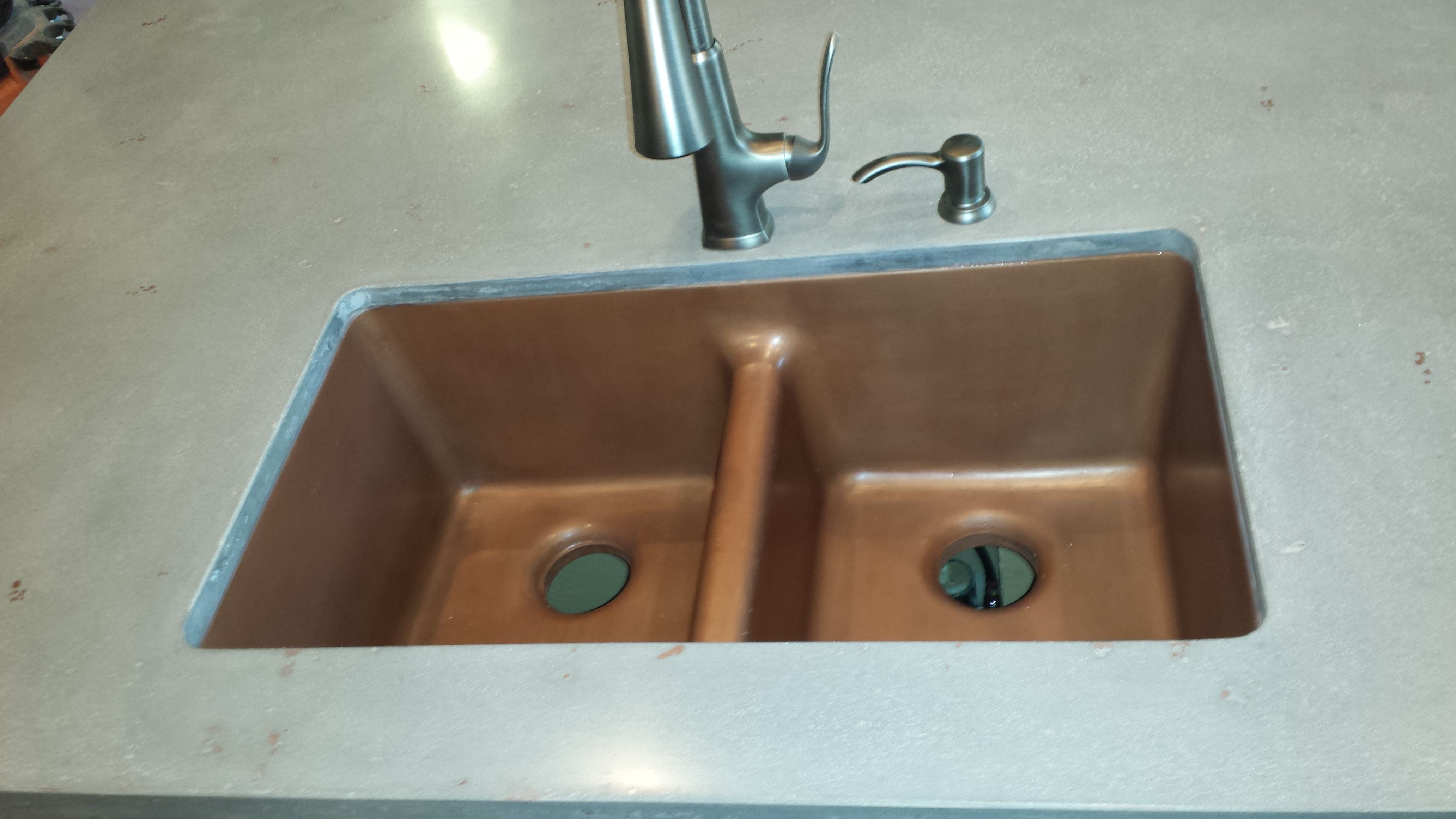 Buy a Handmade Sink Custom Concrete Gfrc Concrete Copper Sink 36