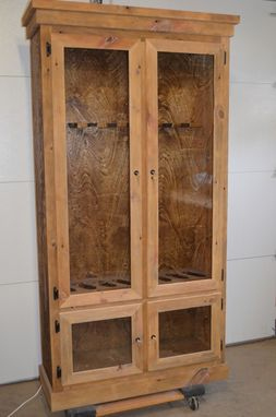 Custom Made Reclaimed Barnwood Gun Display Cabinet