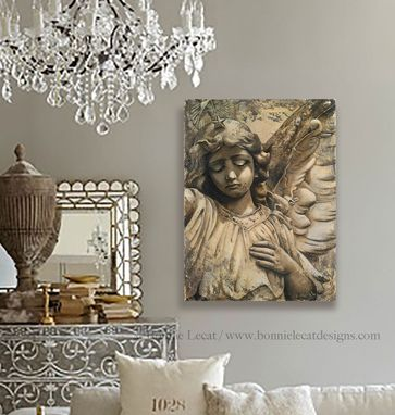 "Custom Made ""Sorrow"" - Angel Fine Art Giclee Print On Gallery Wrapped Canvas"