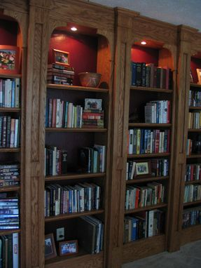Custom Made Built-In Oak Bookshelves