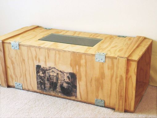 Custom Made Packing Crate Coffee Table