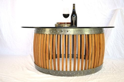 Custom Made Craftsman - Capparis - Wine Barrel Stave Coffee Table