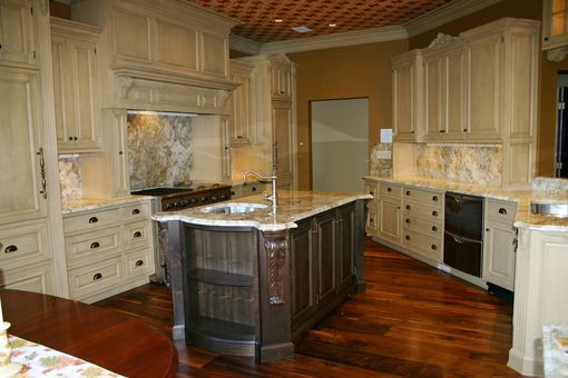 Custom Made Maple Kitchen With Walnut Island