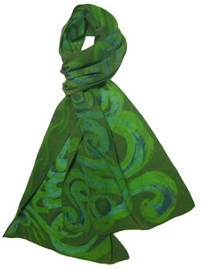 Custom Made Yoga Sutra 1 Sea-Weed Scarf