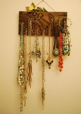 Custom Made Hand Carved Jewelry Holder