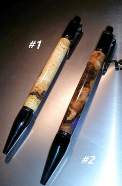 Custom Made Gun Metal Click Pens