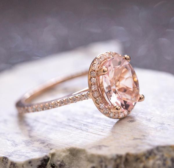 Mark S Enement Ring We Arrived At A Timeless Design For This Oval Morganite After Discussing Diamonds Settled On Pairing Of
