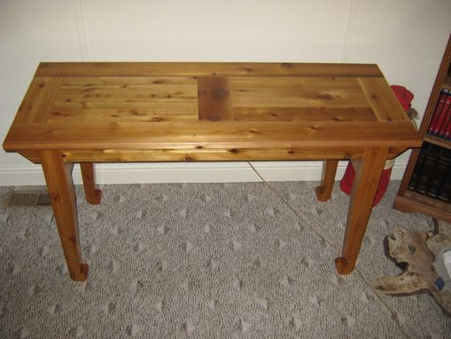 Custom Made Table From Cedar
