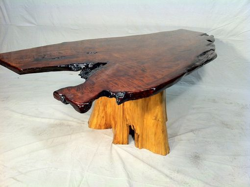 Custom Made The Flying V-  Redwood Dinner Table