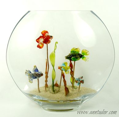 Custom Made Beautiful Low Profile Handmade Lampwork Aquarium