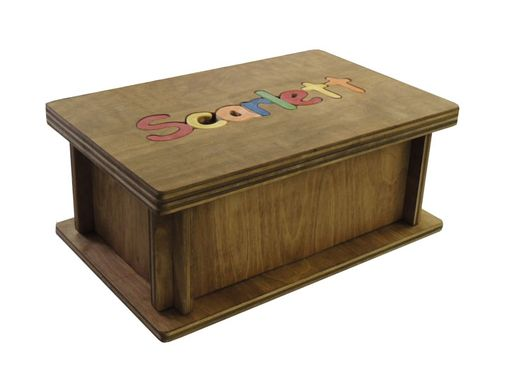 Custom Made Personalized Name Puzzle Stool With Storage