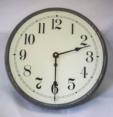 Custom Made Rustic Round Clock With Vintage Dial