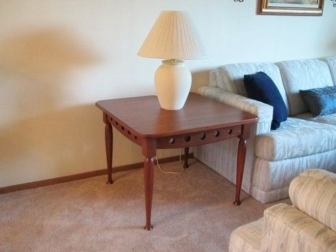 Custom Made End Table To Fit A Special Need