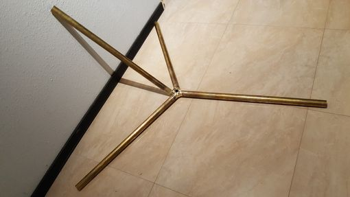 Custom Made Brass Tri Prong Light Fixture