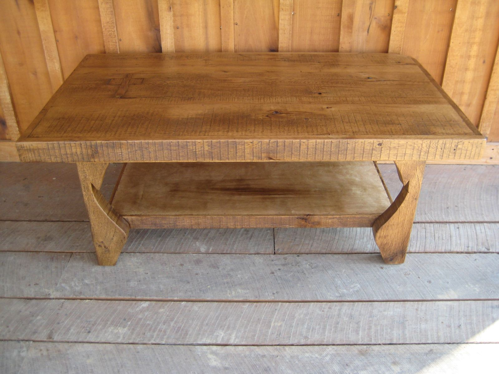 Custom Made Reclaimed Chestnut Rafter Tail Coffee Table