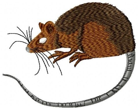 Custom Made Rat Embroidery Design