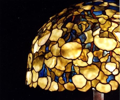 Custom Made Tiffany Reproduction Lamp.  Hydrangea