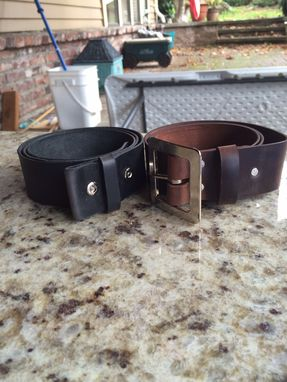 Custom Made Oil Tanned Belts