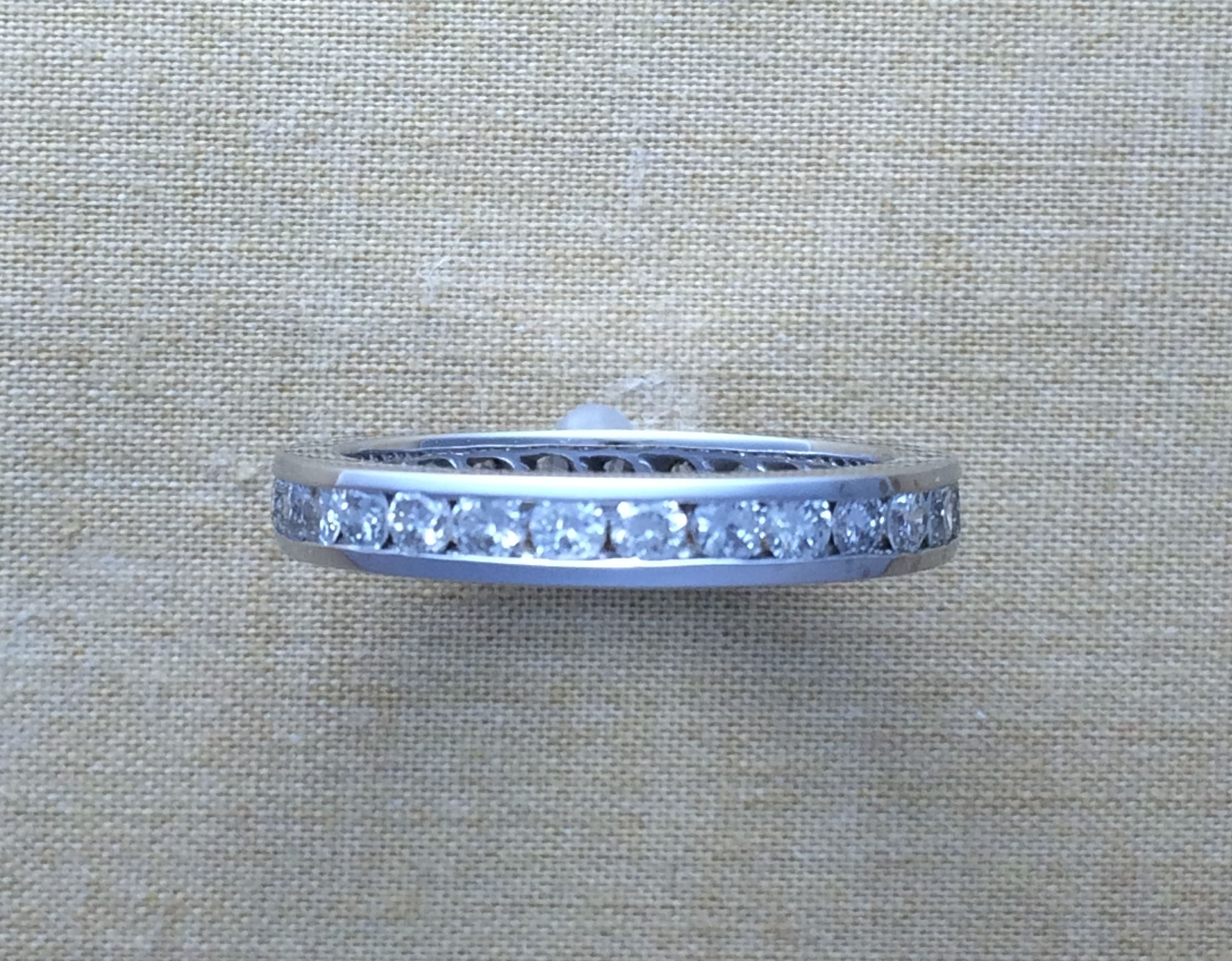 Custom Made Diamond Eternity Wedding Band Channel Set Round Diamonds 3mm Choose