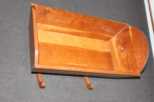 Custom Made Hand Made Cradle In Cherry