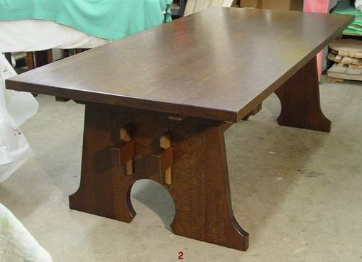 Custom Made Mousehole Trestle Table