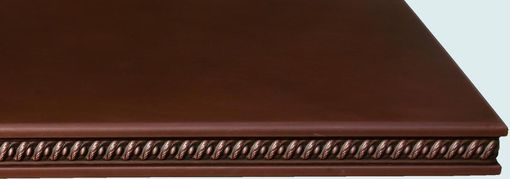 Custom Made Copper Countertop With Embossed Braid Edge
